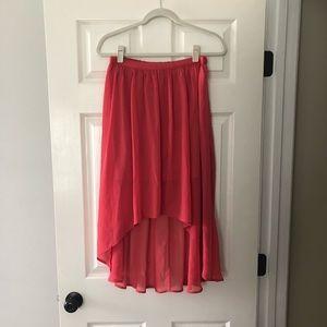 Sheer high low skirt